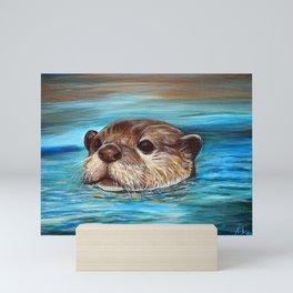 River Otter Painting Mini Art Print