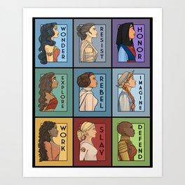 She Series Collage - Version 1 Art Print