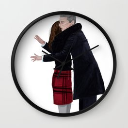Not a Hugging Person Wall Clock