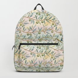 olive branches pattern Backpack