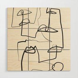 Abstract line art 12 Wood Wall Art