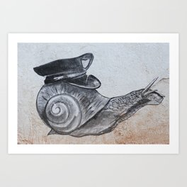 Snails Pace Art Print