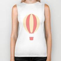 hot air balloon Biker Tanks featuring #84 Hot Air Balloon by MNML Thing