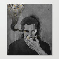 stiles Canvas Prints featuring nogitsune!stiles by steammmpunk