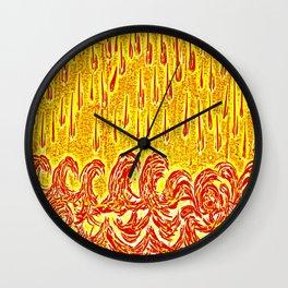 Fire rain Wall Clock