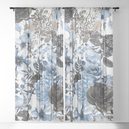 Floral Pattern#4 Sheer Curtain