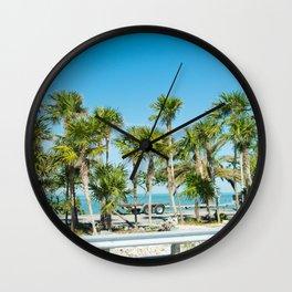 Key West Palm Trees Wall Clock
