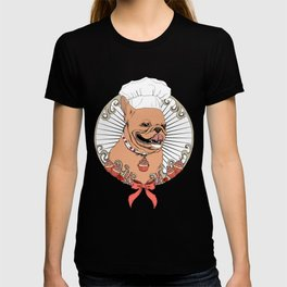 Pastry Cook Bulldog T-shirt