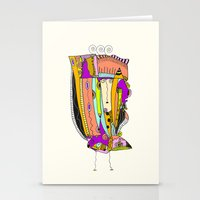 death cab for cutie Stationery Cards featuring Cutie by Ingrid Padilla