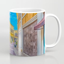 Street Scape in Yellow Coffee Mug