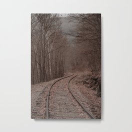 Eerie Train Tracks (Color) Metal Print