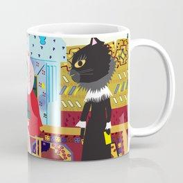 Fashionista cat Checker Player Coffee Mug
