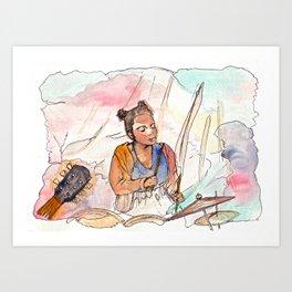 Ebun from T-Rextasy  Art Print