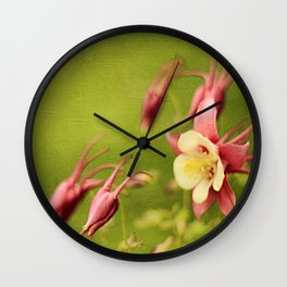 Columbine in Bloom Wall Clock