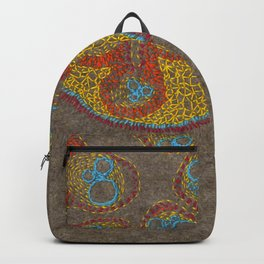 Growing - Cucumis - embroidery based on plant cell under the microscope Backpack