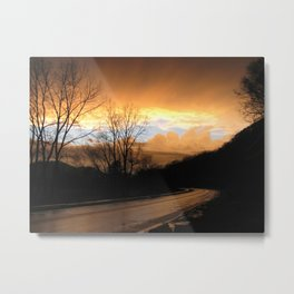 Drive into the Clouds Metal Print
