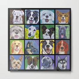 Dogs, Dogs, Dogs - in Black Metal Print
