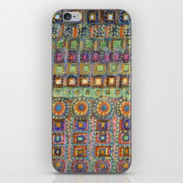 Marvellous Rows of Squares and Circles with Points iPhone Skin