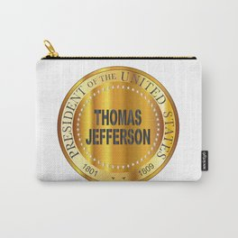 Thomas Jefferson Gold Metal Stamp Carry-All Pouch
