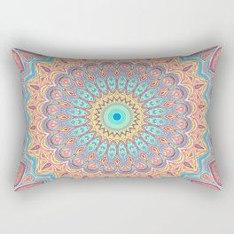 Jewel Mandala Faded - Mandala Design Rectangular Pillow