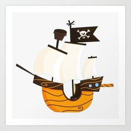 Pirate caravel Art Print