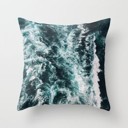 Green Seas, Yes Please Throw Pillow