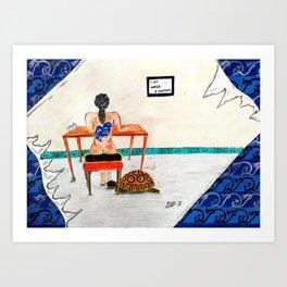 I am water (woman) Art Print