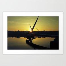 Peace Bridge, Derry.  Art Print