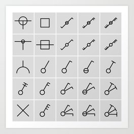 icons switches, electrical symbols Art Print