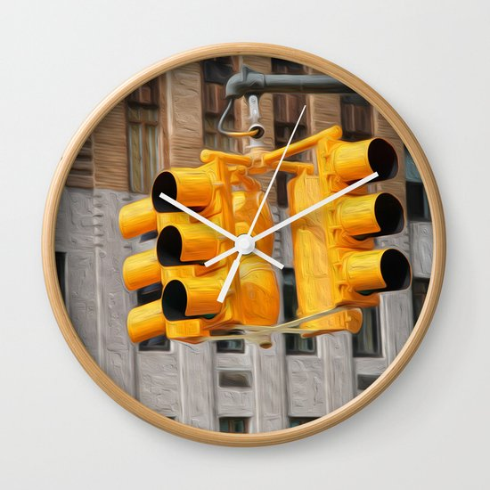 Traffic lights Wall Clock