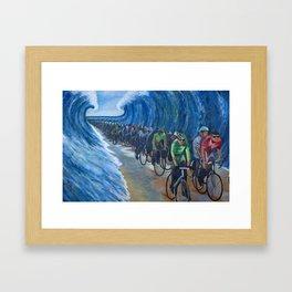 Biking Through the Red Sea Framed Art Print