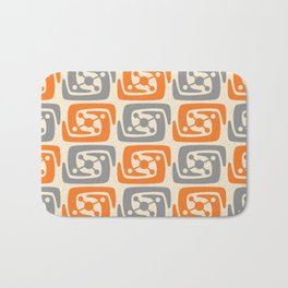 Mid Century Modern Galaxy Pattern 131 Orange and Gray Bath Mat