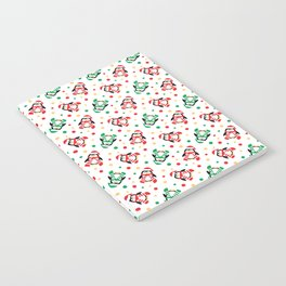 Christmas Penguins and Polka Dots Notebook