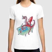 kraken T-shirts featuring kraken by Caramela