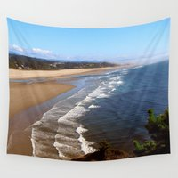 oregon Wall Tapestries featuring Oregon Coast by MaryPaul