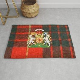 RED & GREEN CAMERON TARTAN ROYAL SCOTLAND Rug