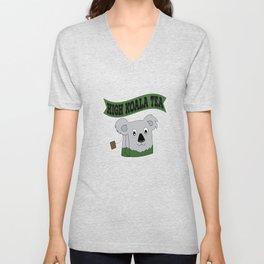 """""""High Koala Tea"""" for tea lovers and tea-fanatics. So addictive tee designs for tea-addict like you! Unisex V-Neck"""