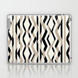 Abstract Cream Brown Black Geometric Pattern Laptop & iPad Skin
