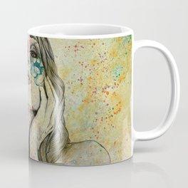 The Withering Spring II   nude tattoo woman portrait Coffee Mug