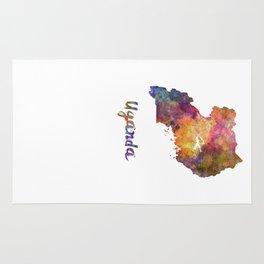 Uganda in watercolor Rug