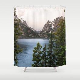 Grand Teton Wanderlust Lake Adventure - Nature Photography Shower Curtain