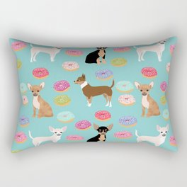 Chihuahua donuts dessert dog breed gifts for dog person chiwawa lovers Rectangular Pillow