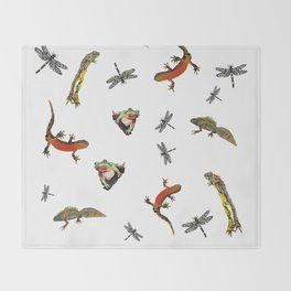 Let's go to the pond Throw Blanket