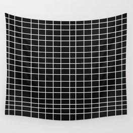 Squares of Black Wall Tapestry