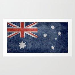 The National flag of Australia, Vintage version Art Print