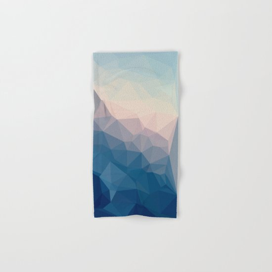BE WITH ME - TRIANGLES ABSTRACT #PINK #BLUE #1 Hand & Bath Towel