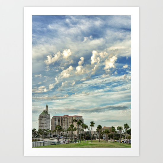 As the Sky Glides By Art Print