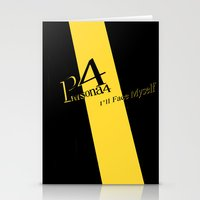 persona 4 Stationery Cards featuring Persona 4 by BlackHeartedInk