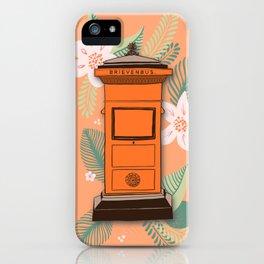 Orange Post Boxes iPhone Case