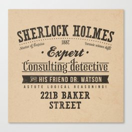 Sherlock Holmes -Consulting Detective- Canvas Print